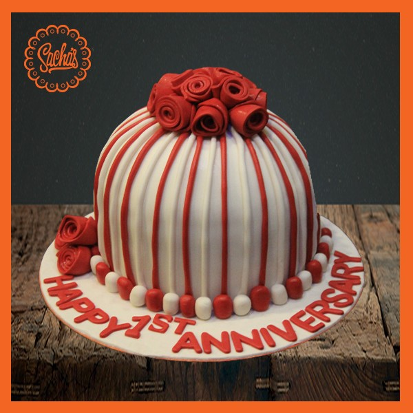 Anniversary Cake Red Rose Fondant Cake Delivery All over Karachi