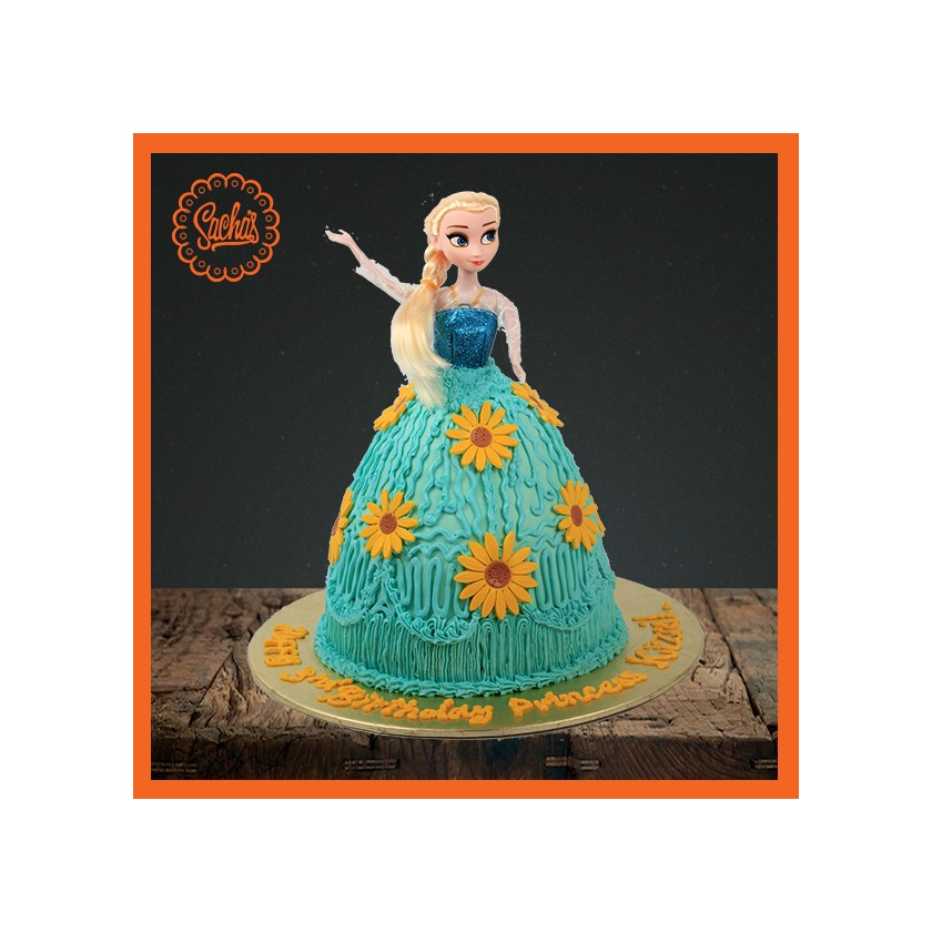 Elsa Doll Icing Fondant Cake Delivery All over Karachi