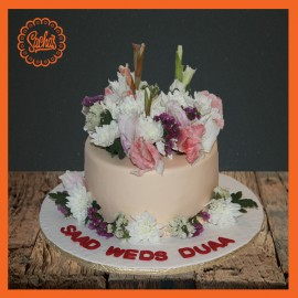 Wedding Cake with Natural Flowers