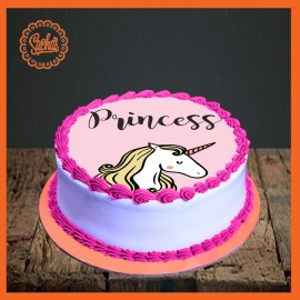Unicorn Theme Picture Cake