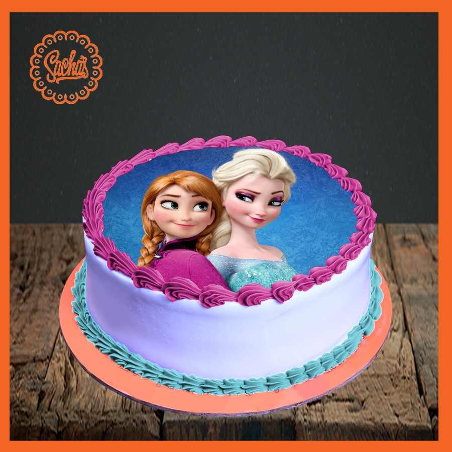 Elsa Anna Picture Cake Delivery all over Karachi