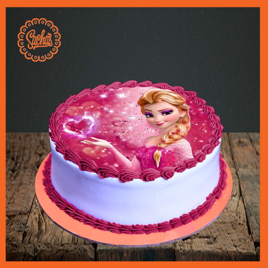Elsa Picture Cake delivery all over Karachi