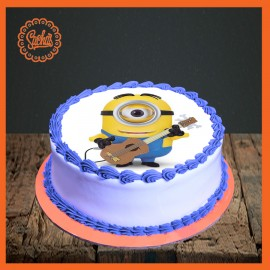 Guitarist Minion Picture Cake