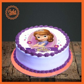 Sofia The First Picture Cake