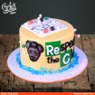 Chemistry Theme Birthday Cake