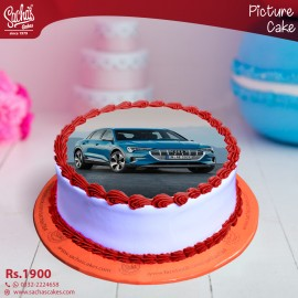 Audi Blue Digital Picture Cake