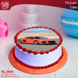 Audi Orange Digital Picture Cake