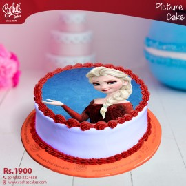 Elsa Red Dress Digital Picture Cake