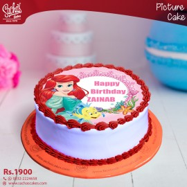 Mermaid Theme Digital Picture Cake
