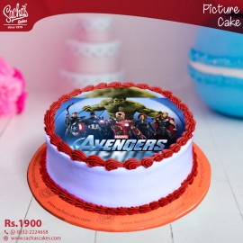 Avengers Digital Picture Cake