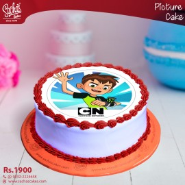 Ben 10 Attacking  Digital Picture Cake