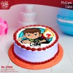 Ben 10 on Fire Digital Picture Cake