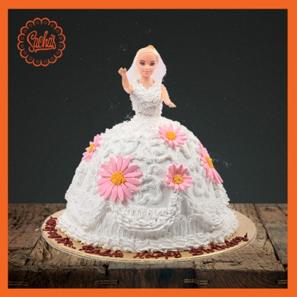 Barbie Doll White Cake