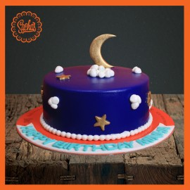 Magnificent Moon Theme Fondant Cake Delivery All Over Karachi Personalised Birthday Cards Paralily Jamesorg
