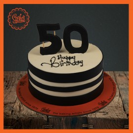 50th Birthday Fondant Cake