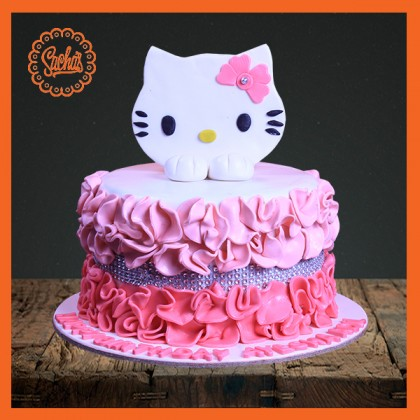 Hello Kitty Fondant Cake Delivery All Over Karachi