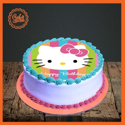Prime Hello Kitty Picture Cake Delivery All Over Karachi Personalised Birthday Cards Paralily Jamesorg