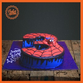 3rd Birthday Shaping Cake with spider man theme