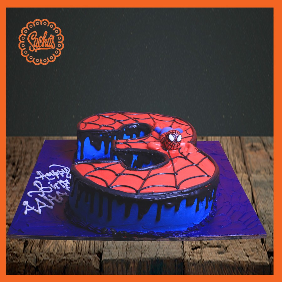 Fine 3Rd Birthday Shaping Cake With Spider Man Theme Delivery All Personalised Birthday Cards Paralily Jamesorg