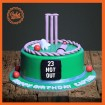 23rd Not out Cricket theme Cake