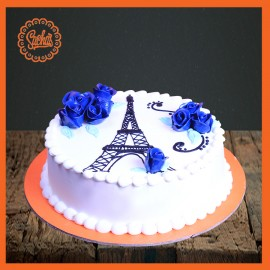 Eiffel Tower Theme cake