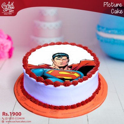 Online Superman Picture Cake Delivery