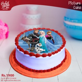 Frozen Theme Digital Picture Cake