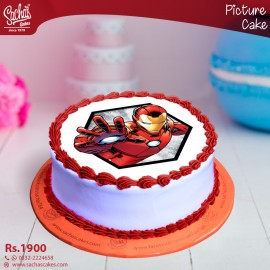 Iron Man Digital Picture Cake