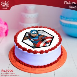 Captain America Digital Picture Cake