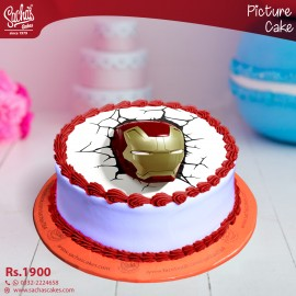 Iron Man Broken Wall Digital Picture Cake