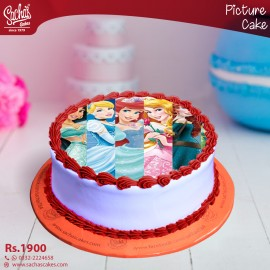 Disney Princess Digital Picture Cake