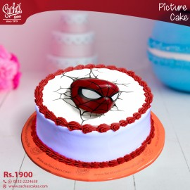 Superman Breaking Wall Digital Picture Cake