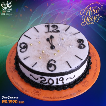 Happy New Year Pearls Cake