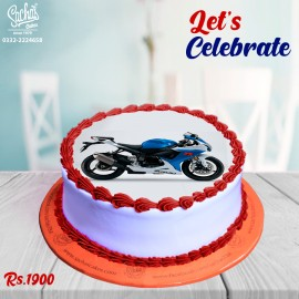 Heavy Bike  Digital Picture Cake