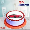 Red Sports Car Digital Picture Cake