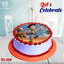 Toy Story Theme Digital Picture Cake