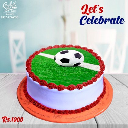 Foot Ball Theme Digital Picture Cake