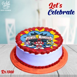 Power Rangers Theme Digital Picture Cake