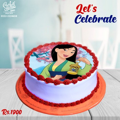 Fantastic Mulan Princess Theme Digital Picture Cake Funny Birthday Cards Online Bapapcheapnameinfo