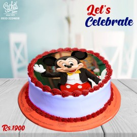 Mickey Mouse Theme Digital Picture Cake