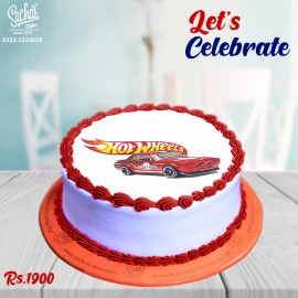 Hot Wheels Theme Digital Picture Cake
