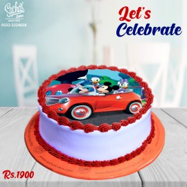 Mickey & Duck Theme Digital Picture Cake