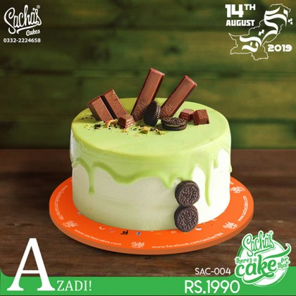 Light Green Dripping Icing Cake
