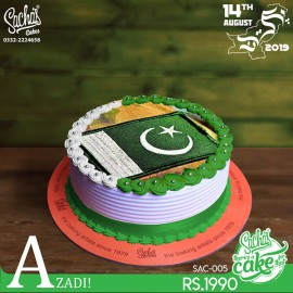 Pakistan Flag Army Dress Picture Cake
