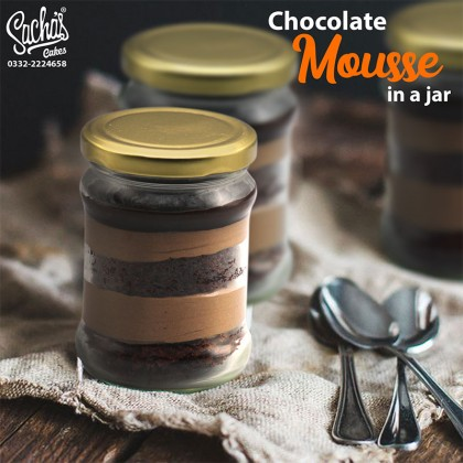 Chocolate Mousse Cake in a Jar