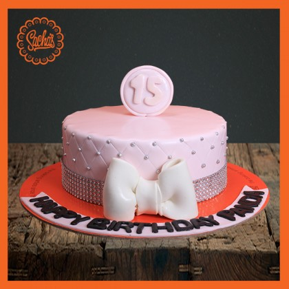 Peachy 15Th Birthday Fondant Cake Delivery All Over Karachi Funny Birthday Cards Online Inifofree Goldxyz