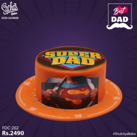 Super DAD Edible Picture Fathers Day Cake