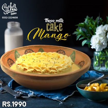 Mango Three Milk Cake